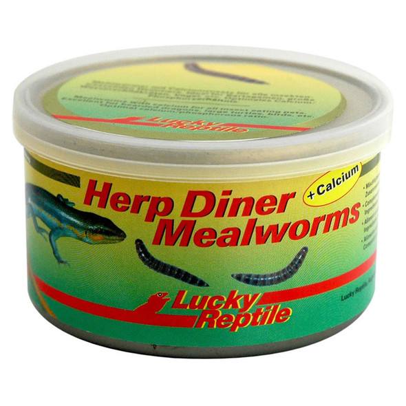 Lucky Reptile Herp Diner Canned Mealworms + Calcium