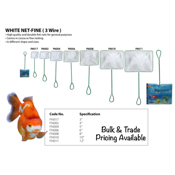 Unbranded White Fish Net 5inch