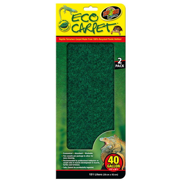 Zoo Med Eco Cage Carpet 40 Gal, CC-40