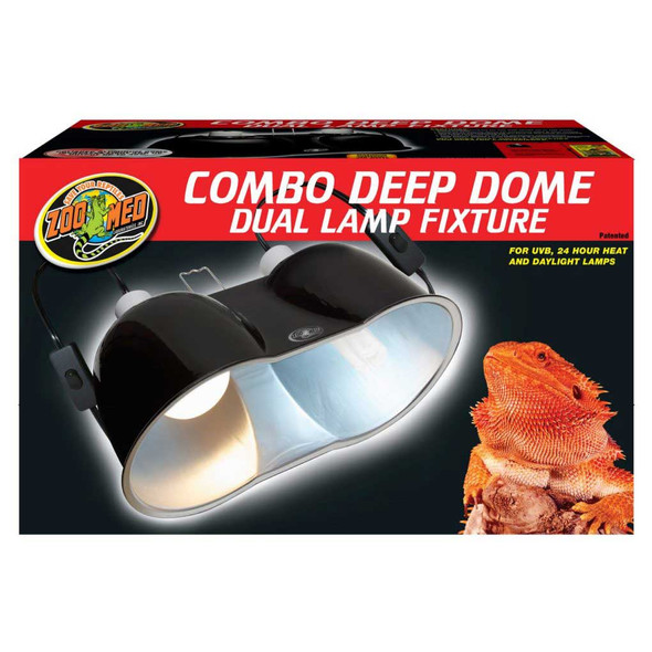 Zoo Med Large Deep Dome Combo Dual Lamp Fixture
