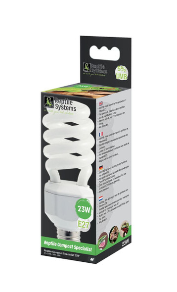 Reptile Systems Compact Lamp Specialist - D3 5% UVB - 23watt