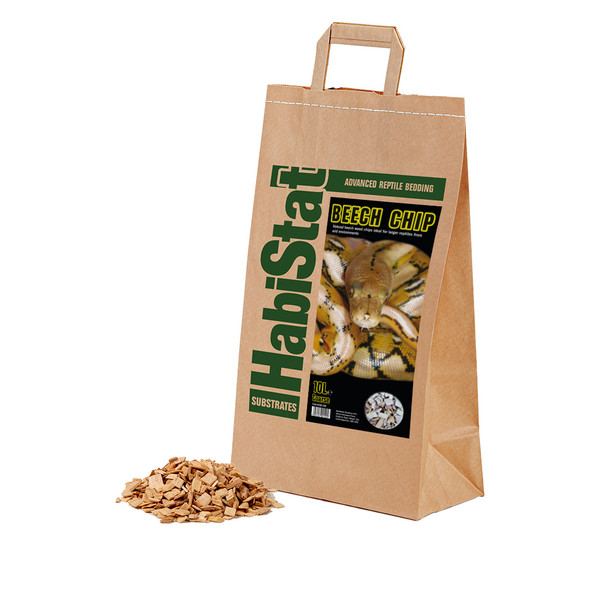 HabiStat Beech Chip Substrate, Coarse, 10 Litres