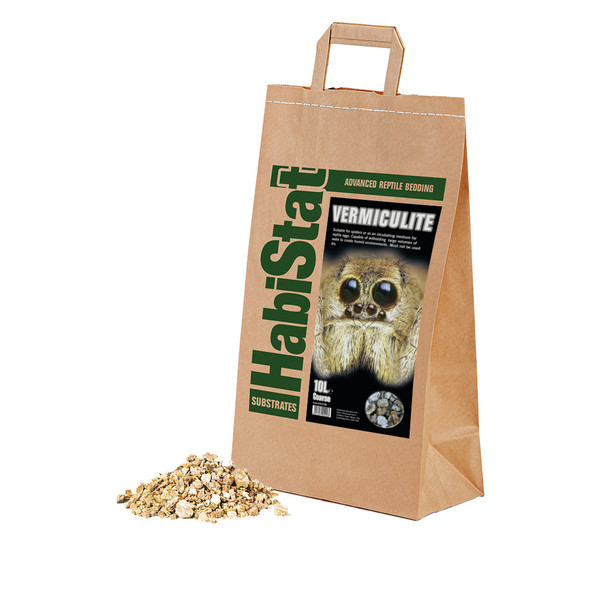 HabiStat Vermiculite Substrate, Coarse, 10 Litres