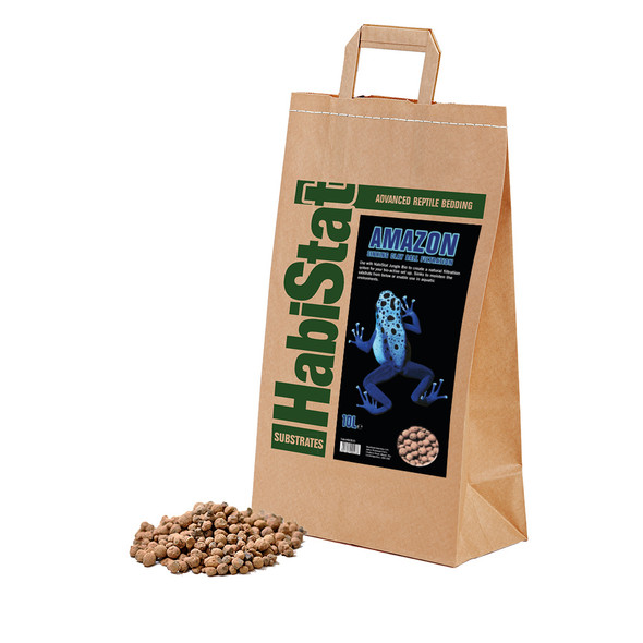 HabiStat Amazon Sinking Clay Ball Filtration Substrate, 10 Litres