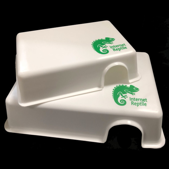 Easy Clean Plastic Hide Box - Large (WHITE)
