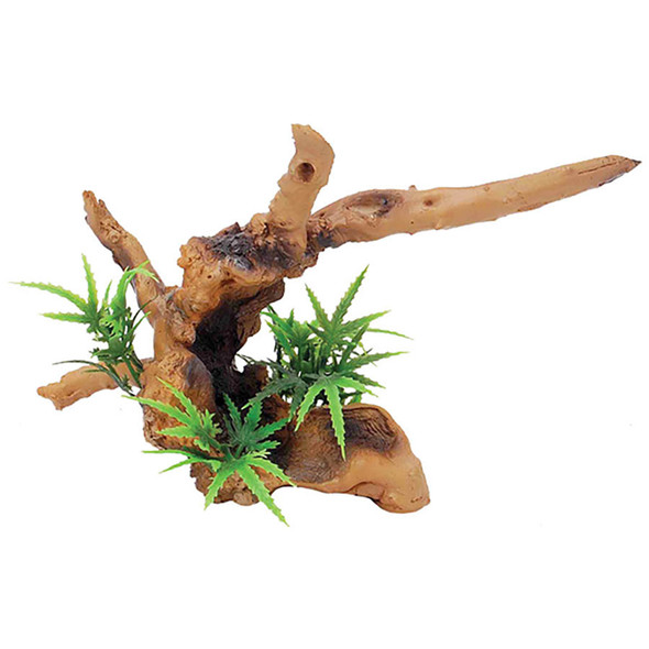 Driftwood with Plant 20 x 9 x 14cm FP61252
