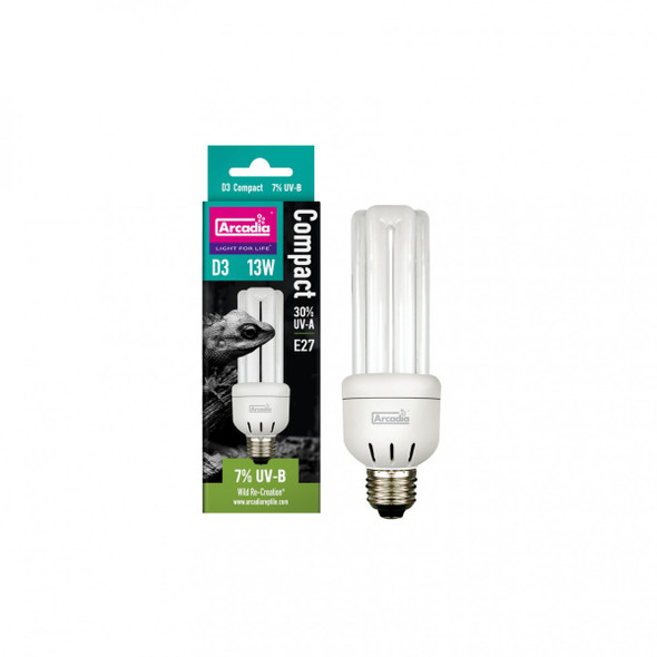 Arcadia D3 Forest (6% UVB) Mini Compact Lamp, 13w