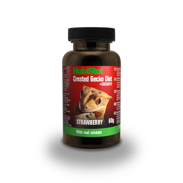 HabiStat Crested Gecko Diet, Strawberry and Cricket, 60g