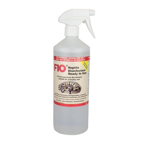 F10 Reptile Disinfectant (Ready to Use) 1L Bottle with Trigger
