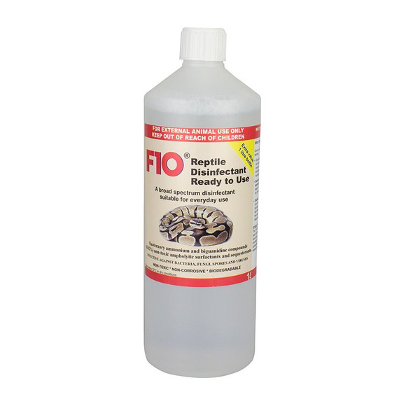 F10 Reptile Disinfectant (Ready to Use) 1L Bottle (No Trigger/Refill)