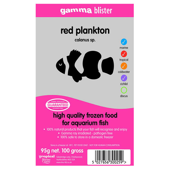 Gamma Blister Pack Red Plankton 95g