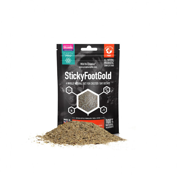 Arcadia EarthPro StickyFootGold Crested Gecko Diet (50g)