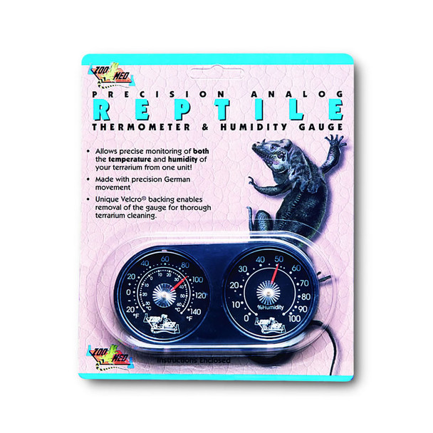Zoo Med Analogue Thermom./Hum. Gauge, TH-22