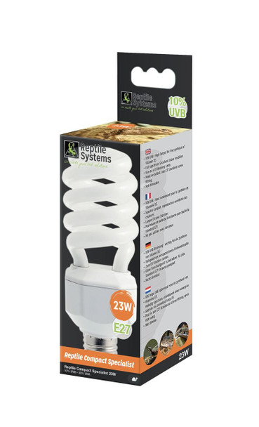 Reptile Systems Compact Lamp Specialist - D3+ 10% UVB - 23watt