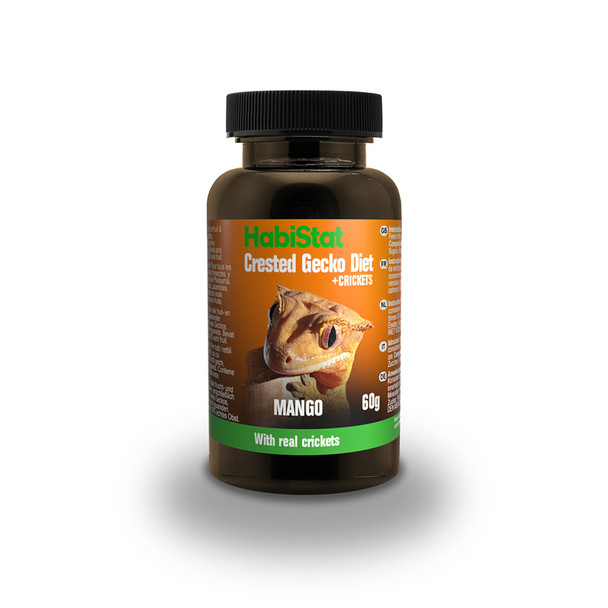 HabiStat Crested Gecko Diet, Mango and Cricket, 60g
