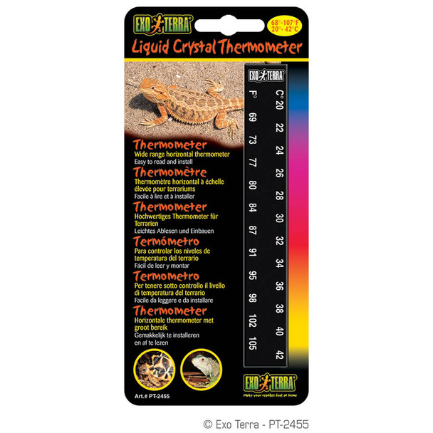Exo Terra Liquid Crystal Thermometer, PT2455