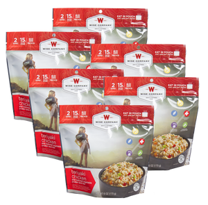 Wise Foods 05903 Outdoor Food Kit Teriyaki Chicken and Rice Dehydrated/Freeze Dried