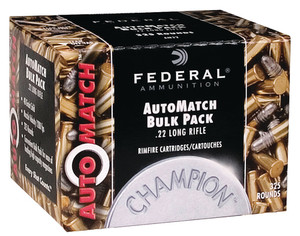 FED Champion AutoMatch .22 Long Rifle 40 Grain Solid 325 Round Bulk Pack Champion AutoMatch 22 Bulk Pack