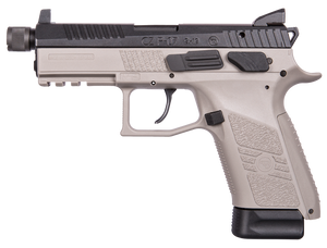 CZ 91288 P-07 Gray 9mm Luger Single/Double 4.50 15+1 Gray Polymer Grip/Frame Grip Black Slide