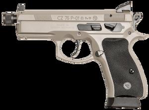 CZ 91299 P-01 Omega Grey 9mm Luger Single/Double 4.40 16+1 Black Rubber Grip Gray Slide