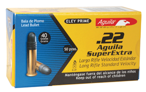 COI Aquila .22 Long Rifle 40 Grain Solid Point Standard Velocity Rimfire Ammunition
