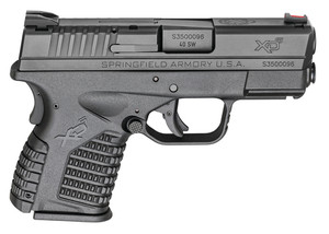 SAI XDS 3.3 Single Stack .40 Smith and Wesson 3.3 Inch Barrel Black Polymer Frame One 6 Round and One 7 Round Magazine