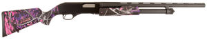 Stevens 22561 320 Field Youth Pump 20 Gauge 22 5+1 3 Muddy Girl Fixed Stock Black Carbon Steel Receiver