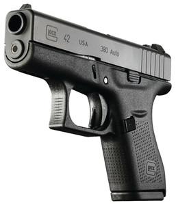 GLK Glock 42 Subcompact .380 Auto 3.25 Inch Barrel Black 6 Round Glock 42 Subcompact