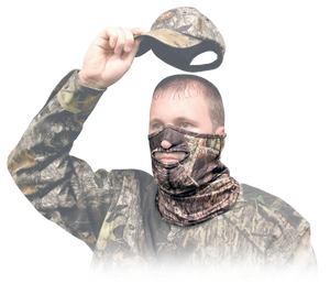 Primos 6229 Stretch Fit Half Face Mossy Oak New Break-Up One Size Fits Most