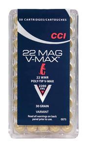 CCI .22 Winchester Magnum Rimfire 30 Grain V-Max .22 Win Mag V-Max