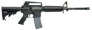 S&W M&P 15 Tactical Rifle 5.56mm NATO 16 Inch Barrel 6-Position Telescopic Stock Adjustable Dual Aperature Rear Sight 30 Round