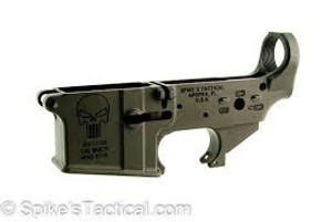 Spikes STLS015 Stripped Lower Punisher AR15 Multi-Caliber Black