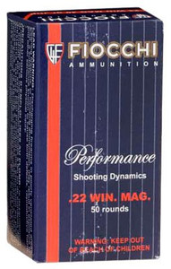 Fiocchi 22FWMB Hunting 22 WMR 40 GR JHP 50 Bx