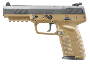 FN Five-seveN Single 5.7mmX28mm 4.8 10+1 3 Mags FDE Poly Grip Model 3868929352 UPC 845737003388