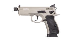 CZ 91299 P-01 Omega Grey Single/Double 9mm 4.4 TB 14+1 NS Black Rubber Grip Gray**