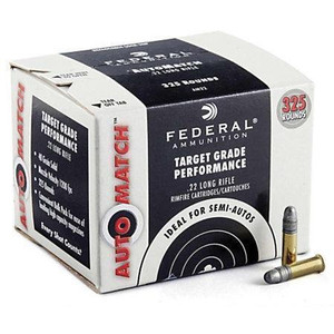Federal AM22 Champion AutoMatch 22LR Solid 40 GR 3250 rounds- (325Box/10Case)