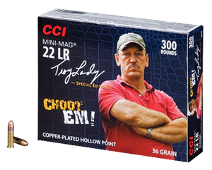 CCI 962 22 Long Rifle Mini-Mag Copper-plated Hollow Point 36 GR 3,000 ROUNDS (300Box/10Case)