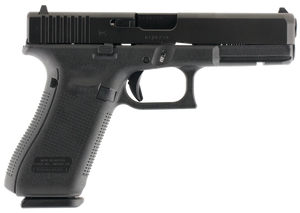 .Glock PA1750203 G17 Gen 5 Double 9mm Luger 4.48 17+1 Fixed Black Interchangeable Backstrap Grip Black
