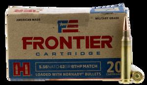 Frontier Cartridge FR300 Rifle  223 Rem/5.56NATO 62 GR Boat Tail Hollow Point Match 20 Bx/ 25 Cs