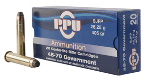 PPU PP4570 Standard Rifle  45-70 Government 405 GR Semi Jacketed Flat Point (SJFP) 10 Bx/ 20 Cs