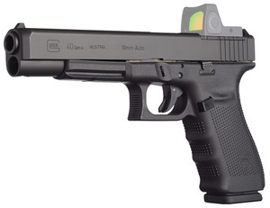 Glock PG4030103MOS G40 Gen 4 MOS Double 10mm 6.02 15+1 Black Interchangeable Backstrap Grip Black*