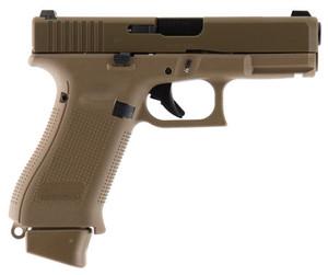 GLK Glock 19X 9mm 4 Inch Barrel Glock Night Sights Coyote Tan Finish 19 Round