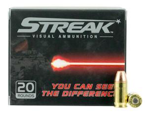 Ammo Inc 380090JHPSTR Streak  380 Auto 90 GR Jacketed Hollow Point (JHP) 20 Bx/ 10 Cs