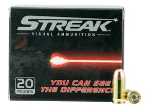 Ammo Inc 380100TMCSTR Streak  380 ACP 100 GR Total Metal Jacket (TMJ) 20 Bx/ 10 Cs