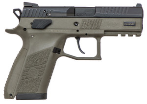 CZ 91077 P-07 Full-Size 9mm Luger Single/Double 3.75 15+1 OD Green Polymer Grip/Frame Grip Black Slide