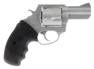 Charter Arms 74120 Mag Pug  41 Rem Mag 2.50 5 Round Stainless Black Rubber Grip