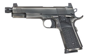 .Dan Wesson 01849 1911 Wraith Single 9mm Luger 5.7 8+1 Black G10 Grip Distressed Stainless Steel