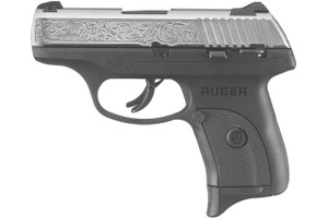 Ruger LC9s 9mm Engraved Nickel Carry Conceal Pistol with Thumb Safety , 3261, 697438032613