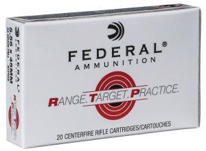 Federal RTP556 Range and Target  223 Rem/5.56NATO 55 GR Full Metal Jacket (FMJ) 20 Bx/ 25 Cs