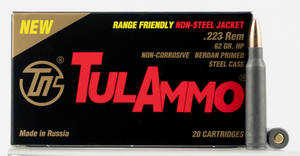 Tulammo TA223624 Rifle  223 Rem/5.56 NATO 62 GR Hollow Point (HP) 20 Bx/ 50 Cs